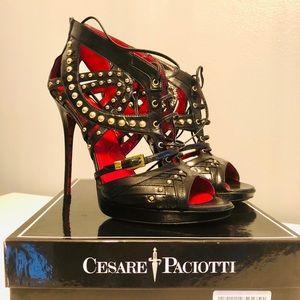 CESARE PACIOTTI - Woman Kid Black, Studded Sandals